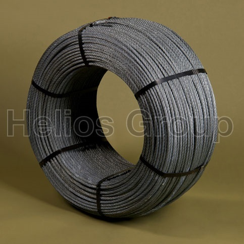 ZINC COATED SPIRAL STEEL WIRE ROPE